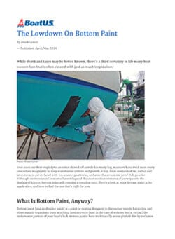 The Lowdown on Boat Paint Article