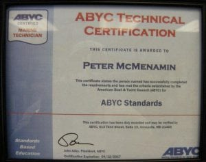 ABYC Standards - Peter McMenamin (2012-04-12) Certifications for Marine Electronics, Awlgrip Paint & More- Annapolis MD