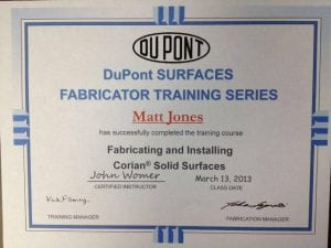DuPont Corian - Matt Jones (2013-03-13) Certifications for Marine Electronics, Awlgrip Paint & More- Annapolis MD