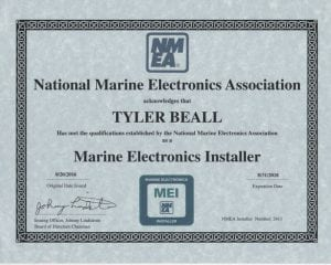 NMEA-MEI---Tyler-Beall-(2016-08-20)- Certifications for Marine Electronics, Awlgrip Paint & More- Annapolis MD