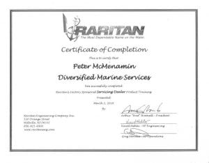 Raritan---Peter- Certifications for Marine Electronics, Awlgrip Paint & More- Annapolis MD